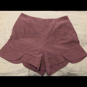 Boohoo pink high waisted shorts